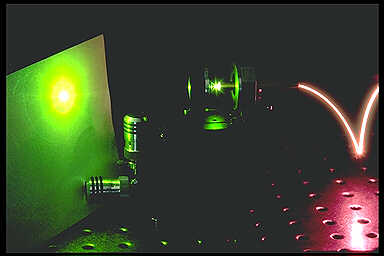 Faserlaser bei 520 nm - Fibre laser at 520 nm